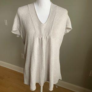 Eileen fisher 100% linen short sleeve sweater